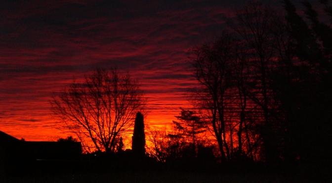 Was für ein Sonnenaufgang am Montag Morgen!