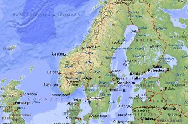Karte Norwegen Schweden.Eine Lernstunde Was Ist Skandinavien 4 Nordlichter