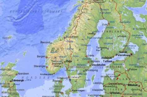 Karte-Norden