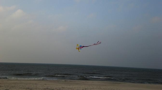 Urlaub an der dänischen Westküste: Drachen am Himmel